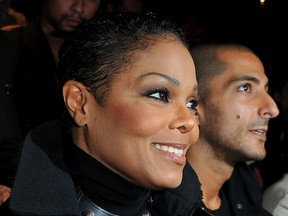 Janet Jackson and Wissam Al Mana arrive for the Lanvin Ready to Wear Spring/Summer 2011 show during Paris Fashion Week at Halle Freyssinet on October 1, 2010 in Paris, France. (Photo by Pascal Le Segretain/Getty Images)