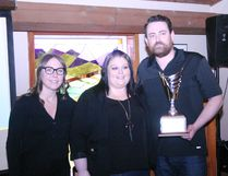 The second annual CanBuildIt Competition wrapped up with the winners ceremony at Blackjacks Roadhouse in Nisku on April 8. Organized by Blackjacks in benefit for the Leduc and District Food Bank, event chair Krysta Shields presented the three winners a recognition plaque in three separate categories. This year's winner in the business category was the Executive Royal Hotel Edmonton Airport. The hotel also took home overall points winner, which was determined by judges. Seventy per cent of the vote was determined by how useful the food items will be to the food bank and 30 per cent for creativity. In the municipal category, Leduc County and Black Gold Regional Schools teamed up again and took home the award for their school bus creation. This is the second year in a row they won in that category. Bobby Roy/Regional Editor