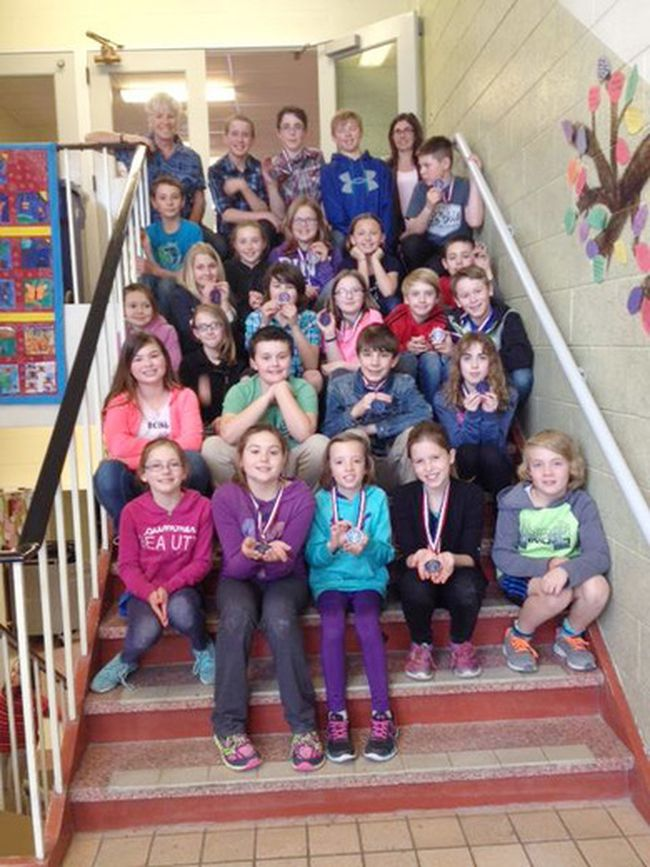 On April 12th, Chesley District Community School shone at the Bluewater District Science and Technology Fair, bringing home 28 medals out of 30 entries. Celebrated for theirparticipation; Karrisa Johnson and Hazel Karn. Winning a Bronze medal;Connor Schuster, Sam Ribbink, Vanessa Hamel, Tasha Boulton, Colby Hurst, Larkin Grieve, Braden Woelfe, Mitchell Hamel, Kiernan Leask, Mitchell Ewing, Nicholas Procknow, Avery Osthoff, Aiden Heard, Austin Greig, Alison Cullum, Marissa Stuempfle, Seamus MacKinnon,and Tyson Laver. Receiving Silver medals: Lilly Merrifield, Michael Schuster, Ronan Johnson, Levi Wathke, Kasen Beitz, Emily Wilford, and Makayla Lueck. Receiving a Gold medal: Rachel Leifso, Cheyanne Leifso,and Lauren Johnson. Recieving a Life Sciences special award was Cheyanne Leifso.