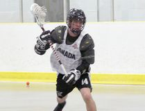 Hepworth native Reid Simmons has joined the Owen Sound NortthStars junior-B lacrosse team for his final year of junior eligibility. Photo by Bill Walker (The Sun Times/Postmedia Network)