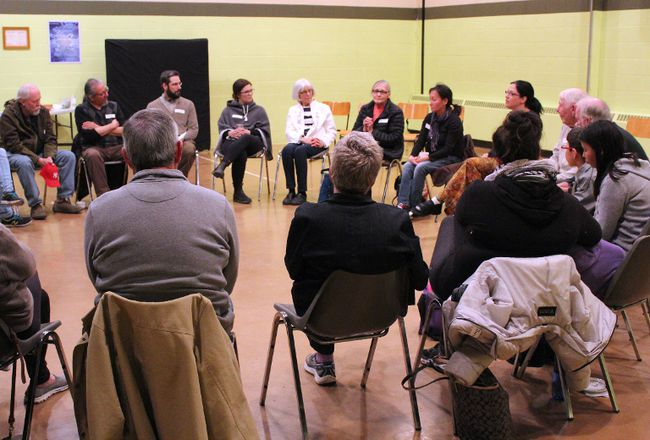More than 50 people discussed their understanding of natural law and how it connects to reconciliation at Knox United Church on Tuesday, April 11. The discussion was part of the third installment of the Roads to Reconciliation series.
