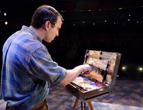 Jay Davis plays Tom Thomson in the Grand Theatre production of Colours in The Storm. (MORRIS LAMONT, The London Free Press)