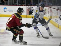 Logan Milliken, of Canmore, played the past two seasons with the Wenatchee Wild of the B.C. Hockey League. The defenceman is headed to College of the Holy Cross in Worcester, Mass. on an NCAA Div. 1 hockey scholarship in the fall of 2017. (Photo supplied by the Wenatchee Wild)