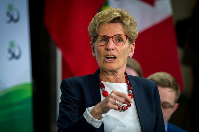 Premier Kathleen Wynne hosted a funding announcement and town hall at Algonquin College April 18, 2017. (Chris Donovan Photo)