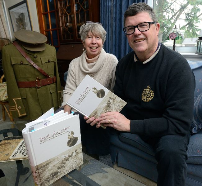 Joe and Nancy Murray created Death of a Gunner, The First World War Diary of Lt. Col E. Woodman Leonard, DSO — based on letters, diary entries and historical research about the London soldier. (MORRIS LAMONT, The London Free Press)