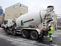 Lafarge cement mixing truck