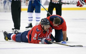 There was a scary moment for Capitals megastar Alex Ovechkin early in Game 5 on Friday, but he was OK and returned to the game. AP