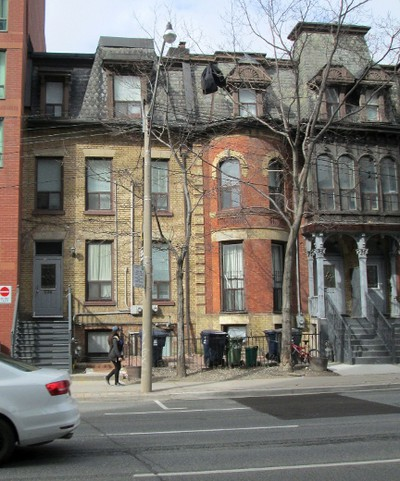 """Following Bell-Smith's move to Toronto from London, Ont. in 1888, he lived in this buff brick house at 336 Jarvis St. Suffering a broken hip after a fall in the basement of this house the talented artist passed away in the old Wellesley Hospital on June 23, 1923. He """"rests"""" in Mount Pleasant Cemetery. His Jarvis St. residence is among the few that still stand on what was once one of the city's most prestigious thoroughfares. In my opinion, the house is deserving of an historic plaque to commemorate the life of this important Canadian artist."""