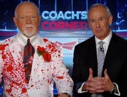 Don Cherry (left) and his Coach's Corner co-host Ron McLean (TWITTER)