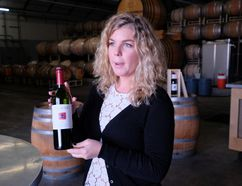 Clara Willard is the tasting room manager at Dashe Cellars in Oakland. It's a fun and vibrant tasting room, with excellent wine. JIM BYERS PHOTO