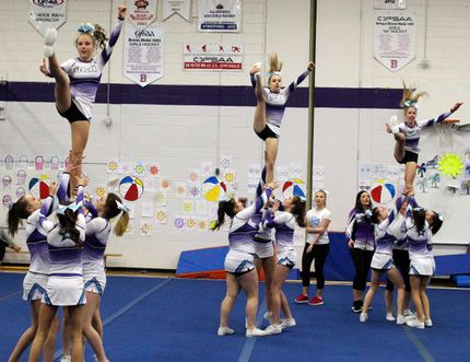REG Clayton/Daily Miner and News The Kenora All-Star Infinity Elite cheerleaders placed seventh at the 2017 Canadian Cheer Evolution in Niagara Falls, April 7-9.