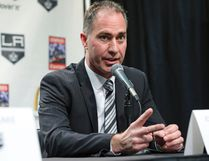 John Stevens speaks during his introduction as the Los Angeles Kings new head coach at a news conference in Los Angeles, Monday. Stevens grew up in Turkey Point. (AP Photo/Reed Saxon)