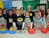 The Petawawa Grannies held their seventh annual Gran African Dinner which raised nearly $5,000. In photo (from left to right) are Hilda Young, Jocelyn Hanna, Rosemary Gilbert, Esther Gaudet, Judy Cumming, Novena Carriere, Jill Schooley, Jean Ostrom, Maggie Jacques, Daniel Klotz and Sydney Fletcher.