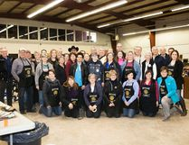 Rotary Club of Vermilion members and friends gathered together prior to officially opening the tenth annual garage sale on Thursday, April 20. Taylor Hermiston/Vermilion Standard/Postmedia Network.