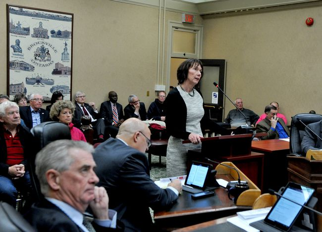 Jeanette Despatie, BGH's acting top administrator, speaks to Brockville council on Tuesday. (RONALD ZAJAC/The Recorder and Times)