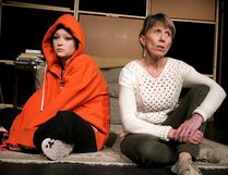 Calista Jones and Catherina Warren appear in a scene from Sault Theatre Workshop's production of Damian Atkins' Lucy.