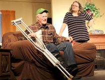 HAWK Theatre's 'Homecoming' is a play that could have been scripted about life in Western Ontario. Shows run select dates April 27 to May 6, 2017. PICTURED: Actor Tony McQuail plays the father of the family farm, Jerry Wilson, and actor Vivien King Sherwood plays Marlene Wilson. (Ryan Berry/ Kincardine News and Lucknow Sentinel)
