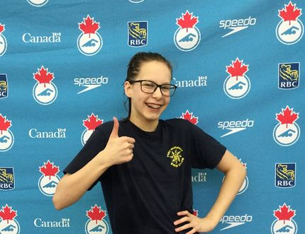 McMurrayite Naomi Slee made a splash at Westerns over the weekend in Calgary, setting personal bests in each of her races and making the B Final in the 400-metre freestyle race.