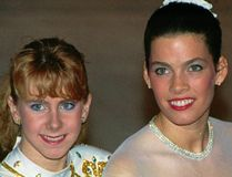 Former Olympian Nancy Kerrigan says rival Tonya Harding has never told her she's sorry for the notorious 1994 beatdown of the silver medalist. (AP/PHOTO)