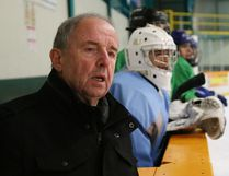 Sherry Bassin, director of hockey operations for the French River Rapids, looks on during spring tryouts for the team at Gerry McCrory Countryside Sports Complex in Sudbury, Ont. on Saturday April 22, 2017. John Lappa/Sudbury Star/Postmedia Network