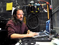 Rory Leydier studied film production but has found a niche as a projection designer at The Grand Theatre. CHRIS MONTANINI\LONDONER\POSTMEDIA NETWORK