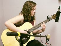 Students at Pick Studio have collaborated and recorded volume 3 that features local musicians. The artists get set to release the album with a kick off concert at Beans Bistro downtown Kincardine. Pictured: Morgan Ritchie performs for the album.