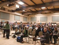 More than 200 people gathered at Josephburg's Moyer Recreation Centre on April 12 for Life in the Heartland's Community Information Evening.