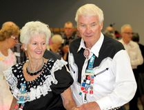 Adolf and Brigitte Ridinger show off their skills on the dance floor during the Pairs and Squares' 65th anniversary dinner and dance Thursday night at Herman Prior Centre in Portage. (Brian Oliver/The Graphic)