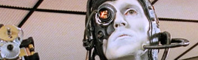A borg character from Star Trek, The Next Generation.