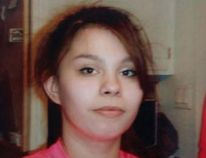 """Chelsea Fryingpan was last seen on Friday, April 21 and is described as: aboriginal, 5'3"""" tall / 154 pounds, dark blue hair, last seen wearing purple pants, grey shirt, black sweater and black leather shoes. Chelsea was carrying a black backpack with yellow writing on it. Photo courtesy the RCMP"""