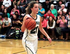 Emma Weltz, the longtime O'Gorman Knights and Timmins Selects point guard, will be taking her talents to Southwest Academy in London, Ont. for her Grade 12 year next fall. BENJAMIN AUBÉ/THE DAILY PRESS