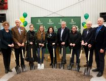 Lakeland College held a sod-turning ceremony to celebrate the official start of construction for the new Dairy Learning Centre and Animal Health Clinic on Wednesday, April 26, 2017, in Vermilion, Alta. From left to right are: Josie Van Lent, School of Agricultural Sciences dean; Darrel Howell, board chair; Alice Wainwright-Stewart, Lakeland's president; Maryje Bikker, Student-Managed Farm dairy team leader; Shannon Stubbs, Lakeland MP; Bruce MacDuff, Vermilion's mayor; Morgan Sangster, dairy unit coordinator; Daryl Watt, County of Vermilion River reeve; and, Gezinus Martens, Alberta Milk chairman. Taylor Hermiston/Vermilion Standard/Postmedia Network.