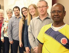 """These are the missionaries who recently travelled to Leticia, Colombia to help an orphanage known as """"La Aljaba,"""" which means the Quiver in English. (Shaun Gregory/Huron Expositor)"""