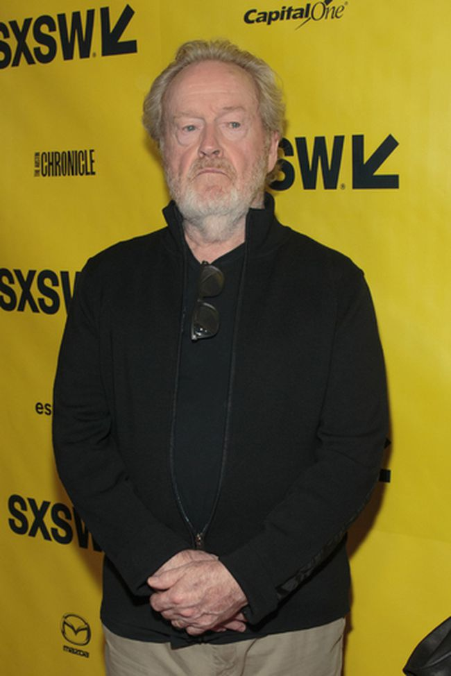 This file photo taken on March 10, 2017 shows Ridley Scott arriving on the red carpet for the premiere of the film Alien during day one of The South by Southwest (SXSW) Conference held at the Paramount Theater in Austin, Texas on March 10, 2017. (SUZANNE CORDEIRO/AFP/Getty Images)
