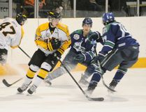 Melfort's Logan Casavant (22) has made an impression with the Nipawin Hawks as he was recently named Most Improved Player at the team's year end awards.