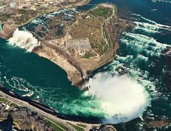 niagarafallschopper: Niagara Helicopters offers fantastic chopper rides over the Niagara River and the famous falls. JIM BYERS PHOTO