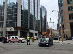 Gas leak at O'Connor and Albert in downtown Ottawa.