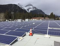 The new Banff Elementary School is equipped with 204 solar panels on the roof. Banff, Alberta, April 26, 2017. (Photo courtesy of Ken Riordon)