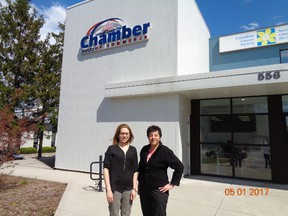 Shirley de Silva (right), CEO of Sarnia Lambton Chamber of Commerce, and Monica Shepley, Manager of Advocacy (Heather Hannigan / Freelance Writer)