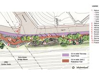 The 1 km Elgin Greenway project will run from the architecture school to the Nelson Street footbridge.