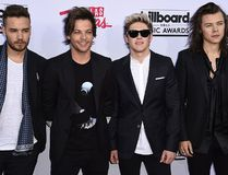 The English-Irish pop band One Direction attends the 2015 Billboard Music Awards, May 17, 2015, at the MGM Grand Garden Arena in Las Vegas. (ROBYN BECK/AFP/Getty Images)