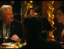 "This image released by The Orchard shows Richard Gere, left, and Rebecca Hall in a scene from ""The Dinner."" (The Orchard via AP)"