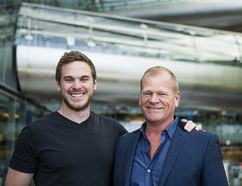Mike Holmes, right, and his son Mike Holmes Jr. in Toronto on April 26, 2017. (Ernest Doroszuk/Toronto Sun)