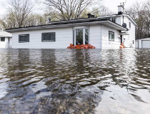 A flooded house along Bayview Road in Constance Bay.