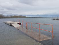 <p>A dock inside Guindon Park is partially submerged by high water levels in the St. Lawrence River, on Monday May 8, 2017 in Cornwall, Ont. . The park is near the outflow of the Moses-Saunders dam, which is increasing its output to relieve water levels in the Great Lakes. </p><p> Alan S. Hale/Cornwall Standard-Freeholder/Postmedia Network