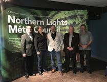 Last week the Métis Nation of Ontario (MNO) and the MNO Commission on Self-Government were in Cochrane to talk to local Métis citizens. They also had a meeting with local regional government. Mayor of Iroquois Falls Michael Shea, President of theMétis Nation ofOntarioMargaret Froh, the Mayor of Cochrane Peter Politis, the Mayor of Smooth Rock Falls Michel Arsenault and the President of the Northern LightsMétis Council Doug Hull discussed the future of Métis relations.