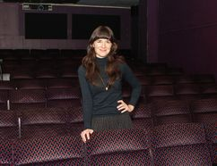 Wendy Huot, owner of The Screening Room, is seen in the Rio theatre on Tuesday. (Julia McKay/The Whig-Standard)