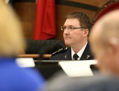Tim Miller/The Intelligencer Hastings-Quinte Paramedic Services Chief Doug Socha speaks at a committee meeting.