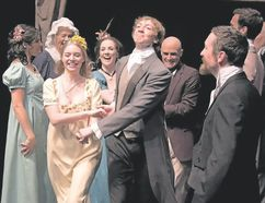 Sarah Seachrist plays Emma Woodhouse and Alex Bogaert is Mr. Knightley in Emma. (Ross Davidson/Special to Postmedia News)