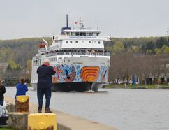 The Chi-Cheemaun ferry departed for her annual spring cruise from Owen Sound to Tobermory on May 4, 2017 in Owen Sound. (Scott Dunn/The Owen Sound Sun Times/Postmedia Network)